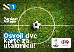 Osvoji karte za utakmicu Partizan - Astana